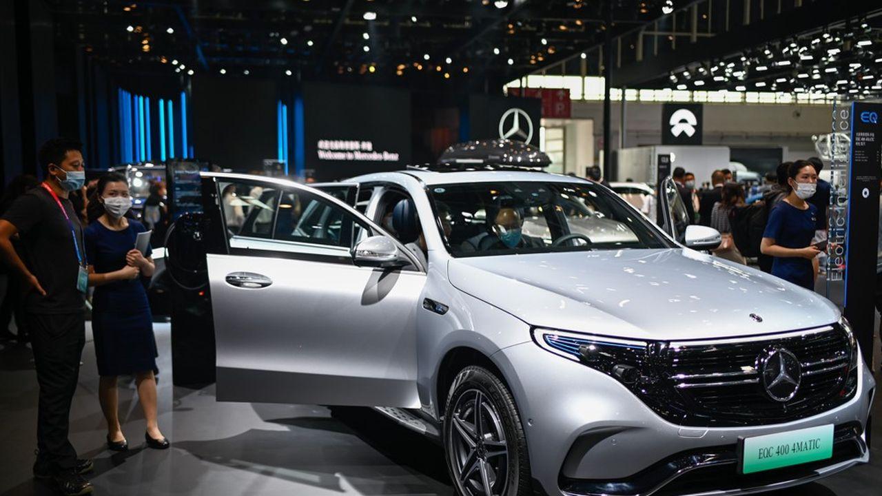 Les nouveaux modèles allemands (ici la Mercedes Benz EQC 400) étaient en bonne place au salon de l'auto de Pékin, à la fin du mois de septembre.