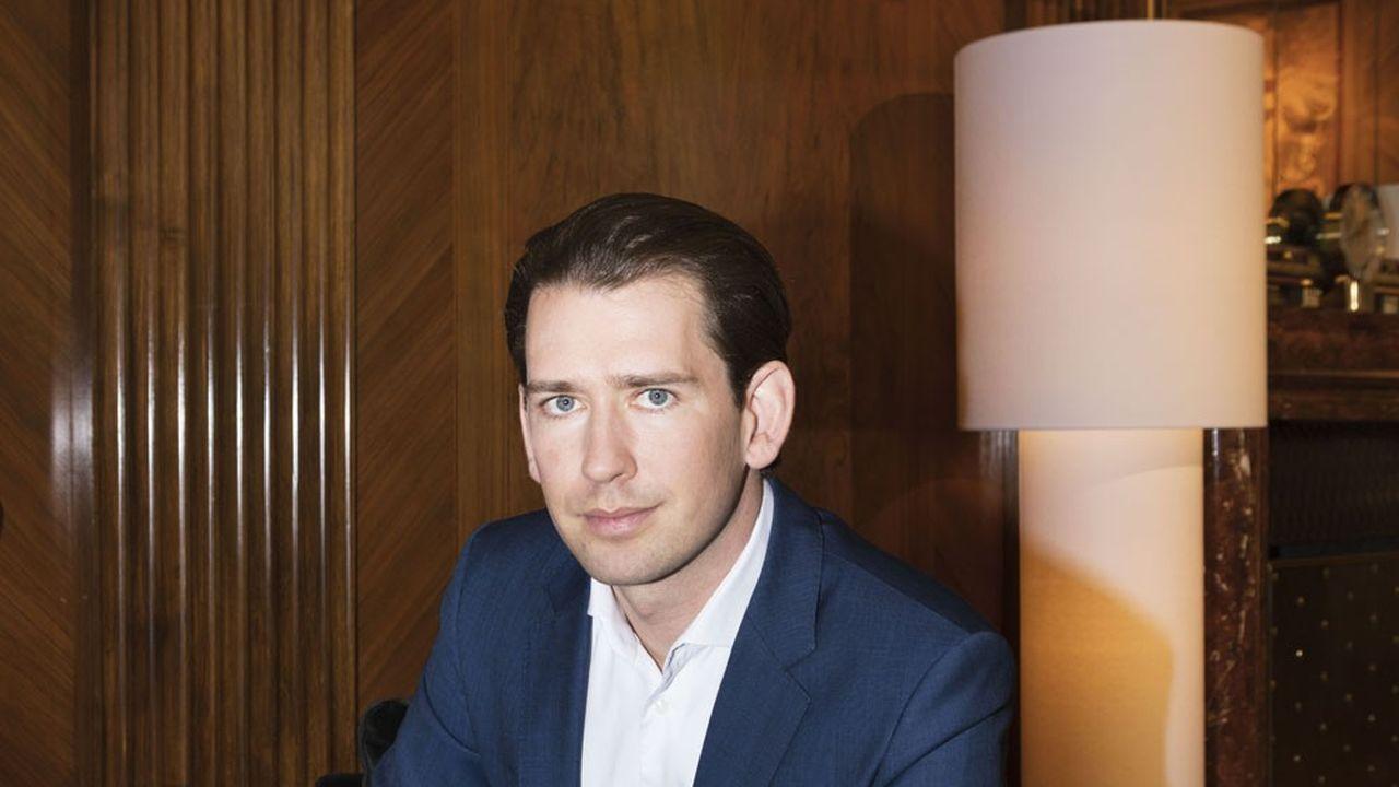 Le chancelier autrichien, photographié fin septembre dans son bureau à Vienne.
