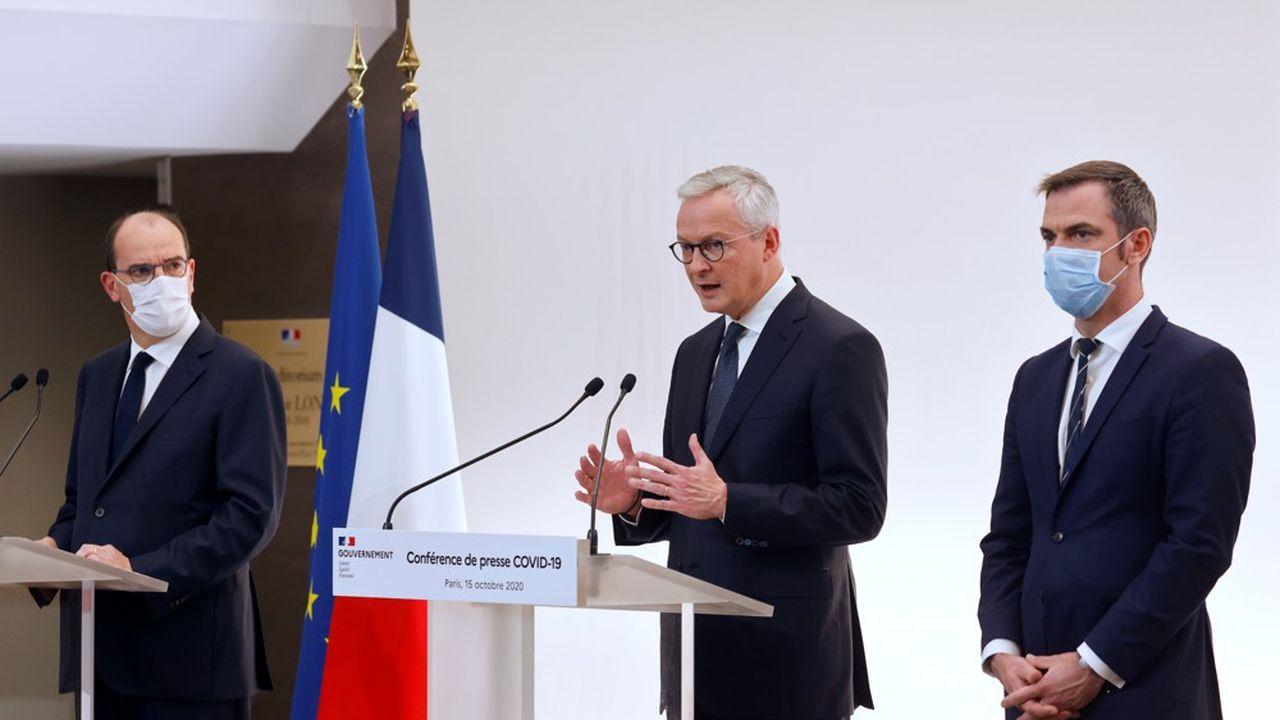 Le Premier ministre Jean Castex, le ministre de l'économie Bruno Le Maire, et le ministre de la santé Olivier Véran, ont annoncé ce jeudi de nouvelles mesures de soutien aux entreprises, notamment dans le secteur de l'hôtellerie-restauration.