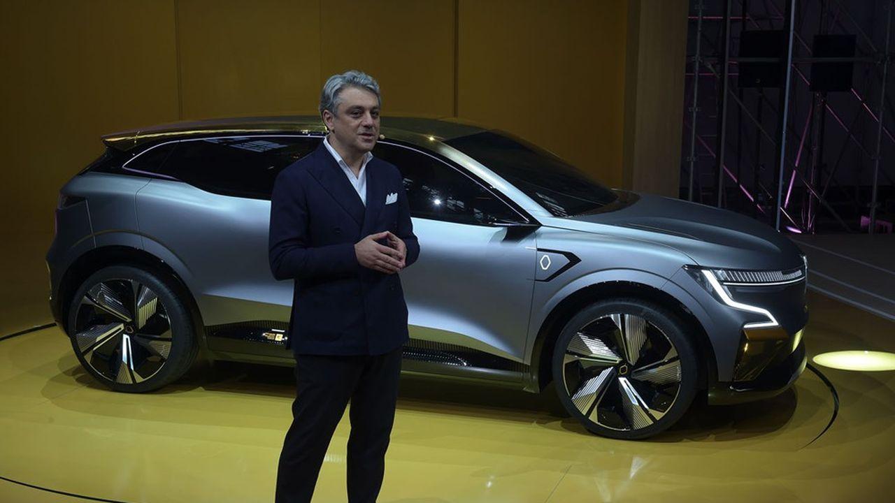 Berline compacte, la Mégane eVision préfigure la première voiture électrique qui sera construite à partir de la nouvelle plateforme dédiée du constructeur.