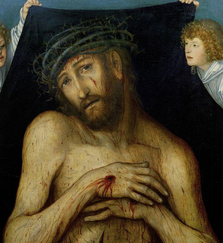 L'Homme de douleur, peinture de Lucas Cranach l'ancien (vers 1515).