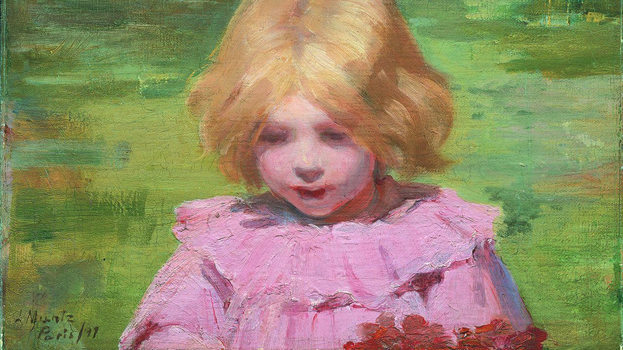La robe rose, peinture de Laura Muntz Lyall, 1897.