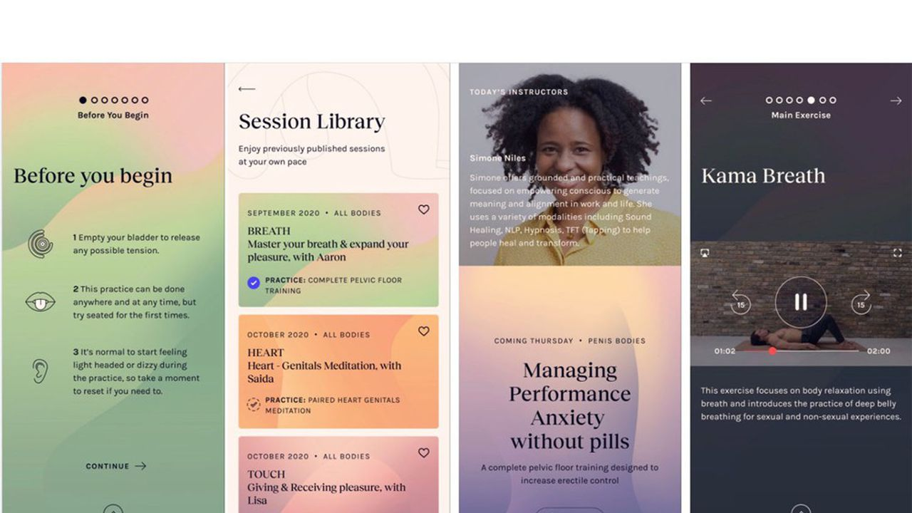 L'appli Kama propose des cours, des informations et des interactions avec des professionnels autour de la sexualité.