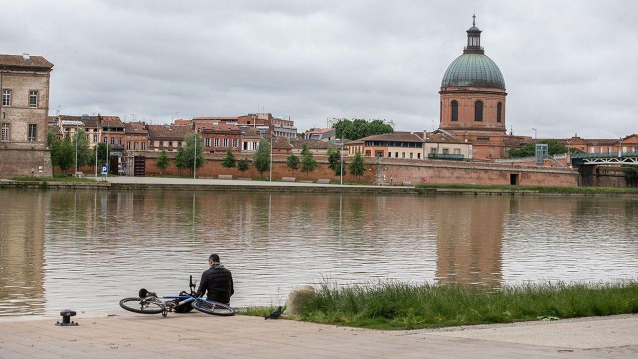 Toulouse, les berges de la Garonne.