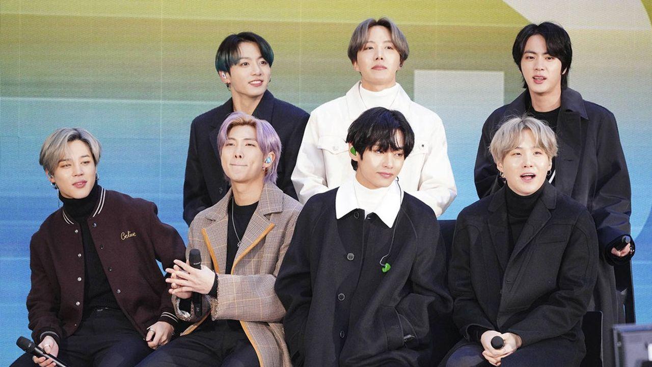 Le boy band sud-coréen BTS