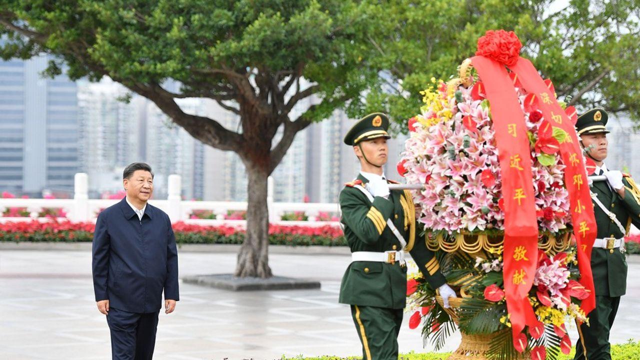 Le président chinois Xi Jinping le 14octobre dernier à Shenzen.