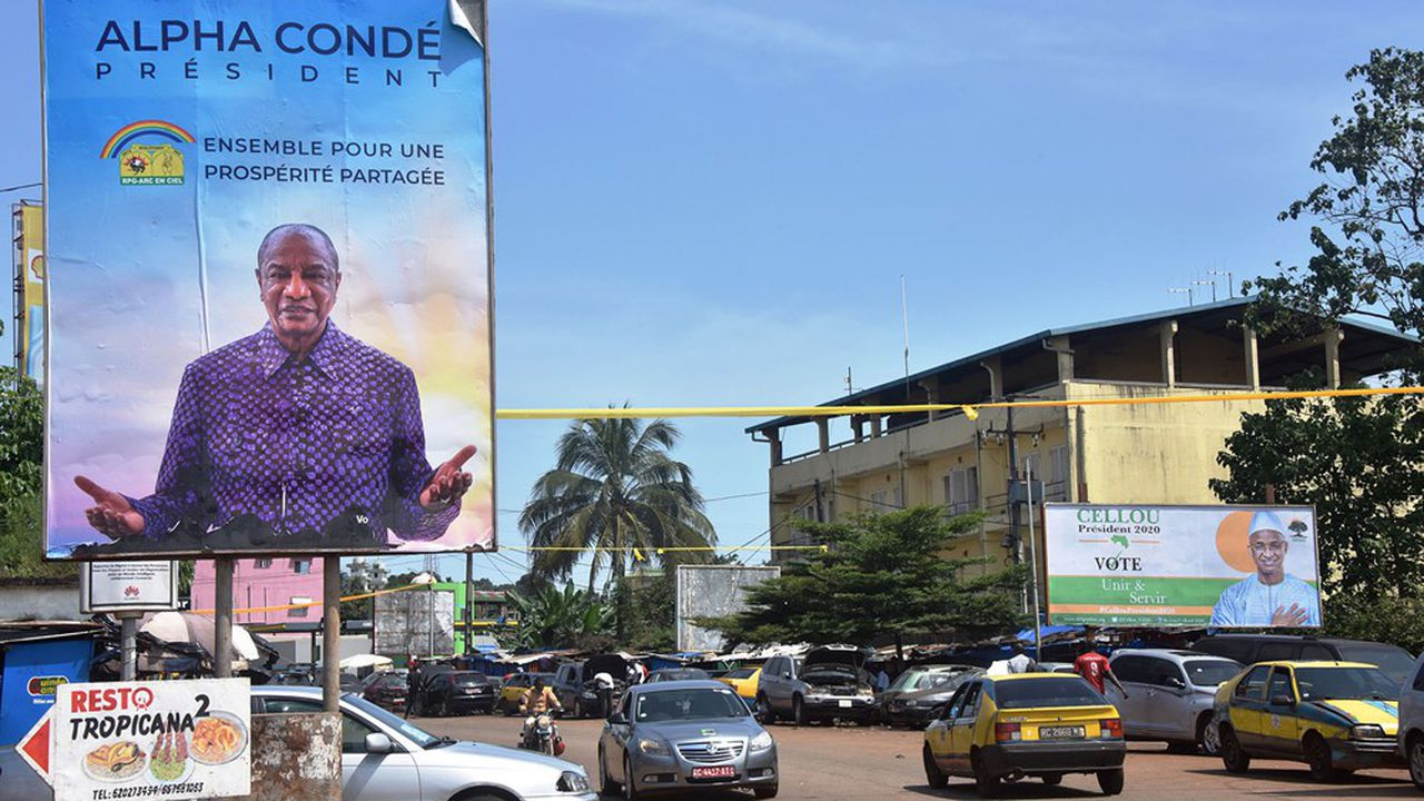 Une dizaine de candidats se disputent les suffrages des Guinéens dimanche, mais seuls le chef d'Etat sortant, Alpha Condé, et l'ex- premier ministre Cellou Dalein Diallo ont une chance.
