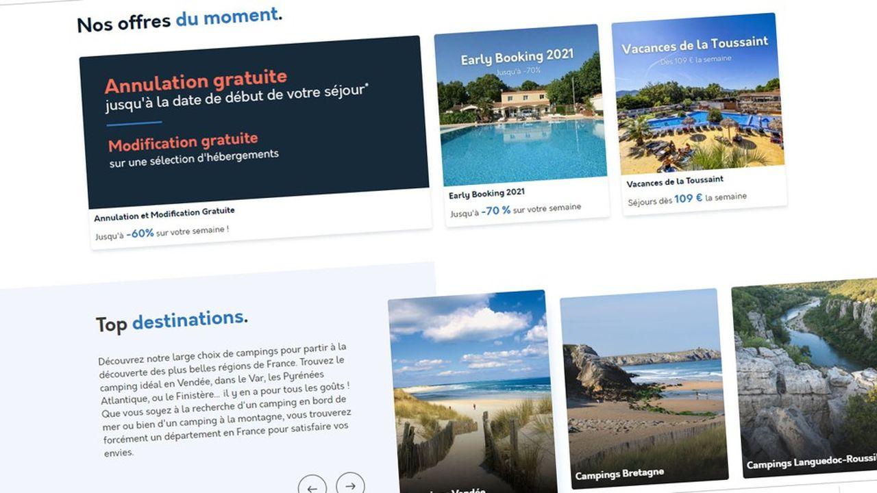Campings.com commercialise 2.500 campings environ, dont environ 1.900 en France, de l'ordre de 300 en Espagne, et une centaine en Italie. La société a également une présence au Portugal et en Croatie.