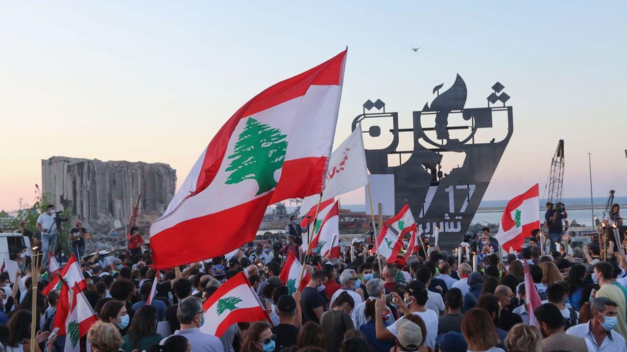Quelques milliers de manifestants ont défilé à Beyrouth pour commémorer cette date symbolique du 17 octobre.