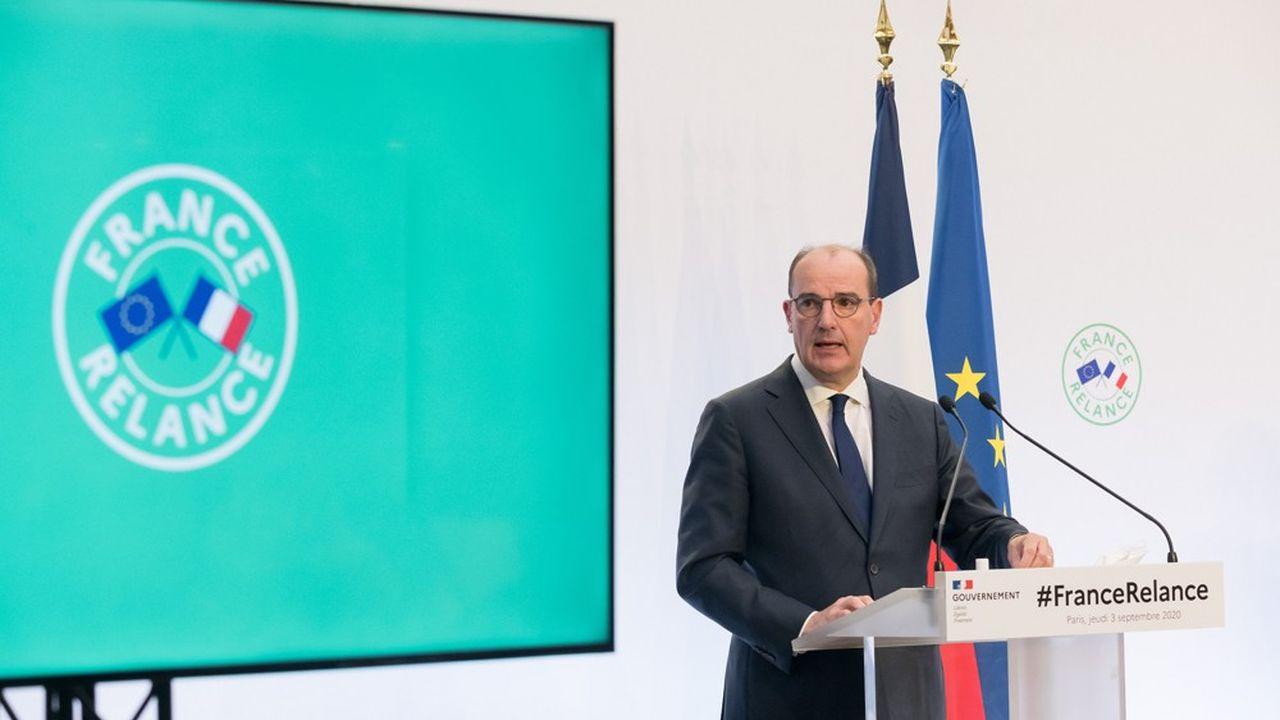 Le Premier ministre, Jean Castex, le 3septembre, lors de la présentation du plan de relance de l'économie française.