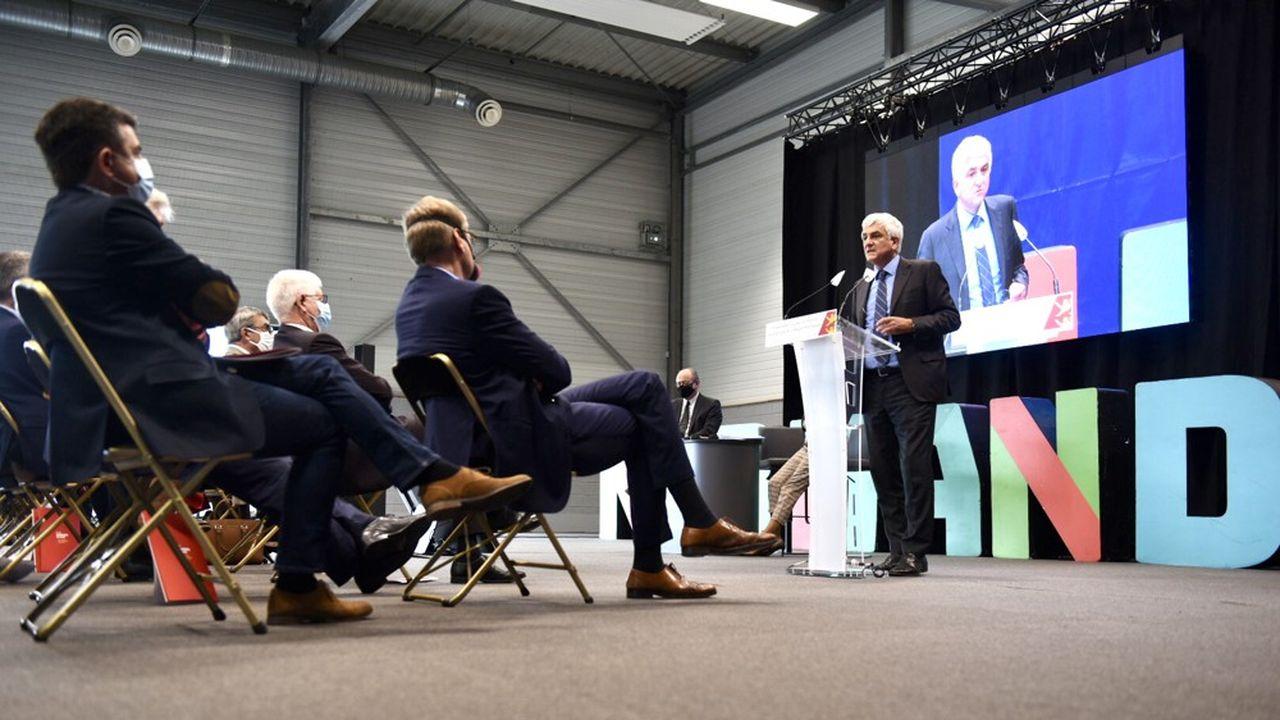 Hervé Morin, président de la région Normandie, a présenté vendredi 9octobre son plan de relance.