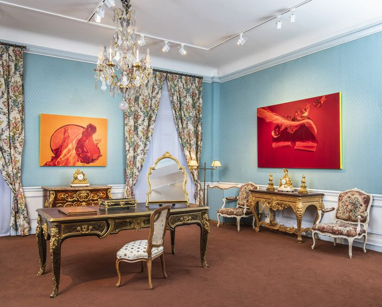 La 15eédition de Chambres à part se tient dans l'hôtel particulier des Kraemer, célèbres antiquaires installés près du parc Monceau.