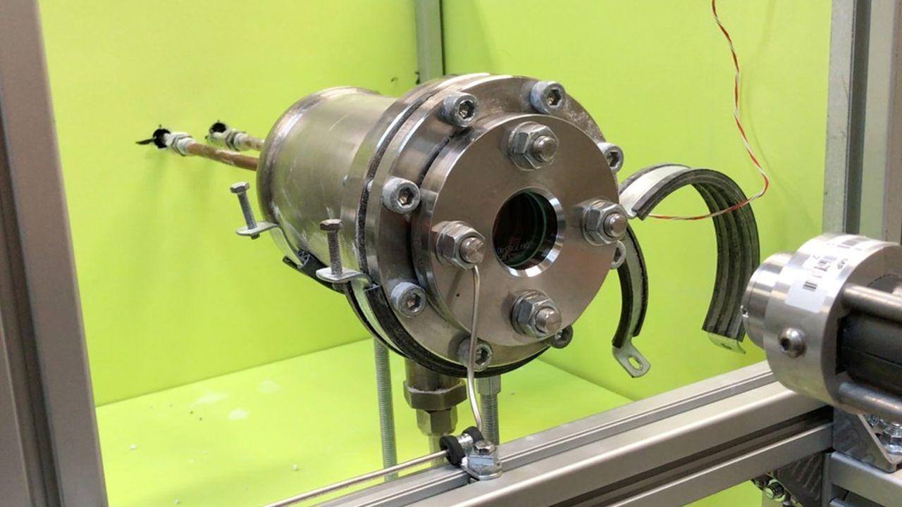 Vue d'ensemble du réacteur de liquéfaction.