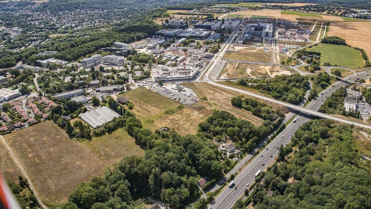 Vue aérienne du plateau de Paris-Saclay.