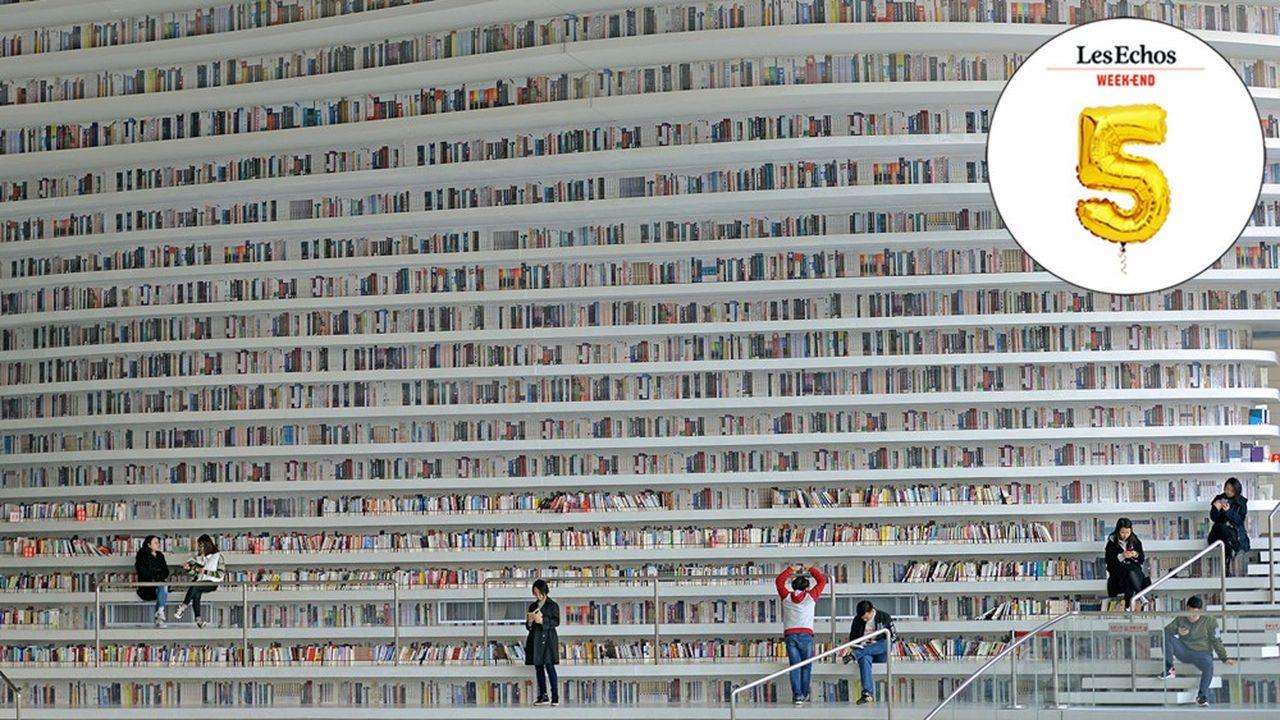 La bibliothèque futuriste de Tianjin