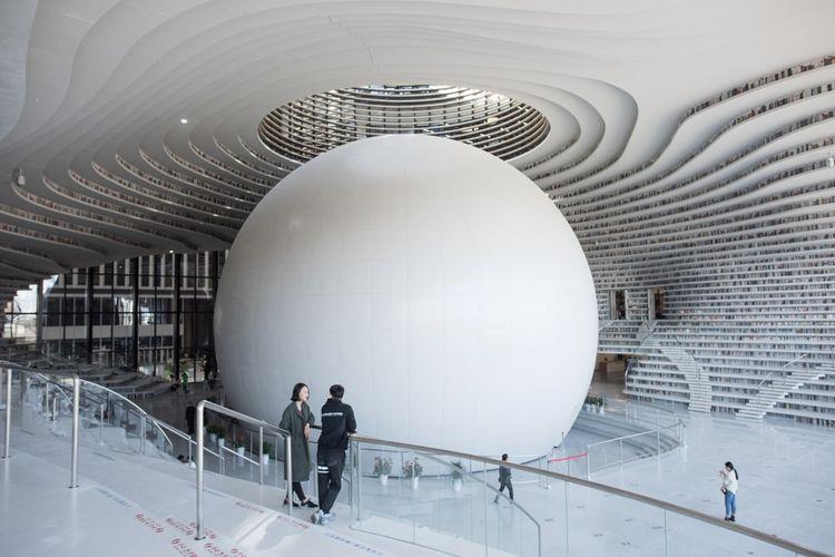 Bibliothèque futuriste de Tianjin