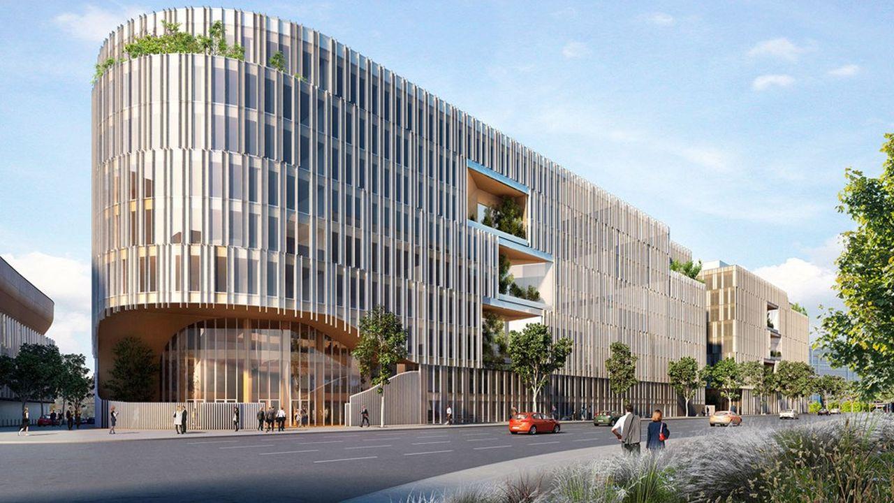 Origine, ensemble de bureaux de près de 70.000 mètres carrés sur huit étages, sera livré à Nanterre au début de l'année prochaine.
