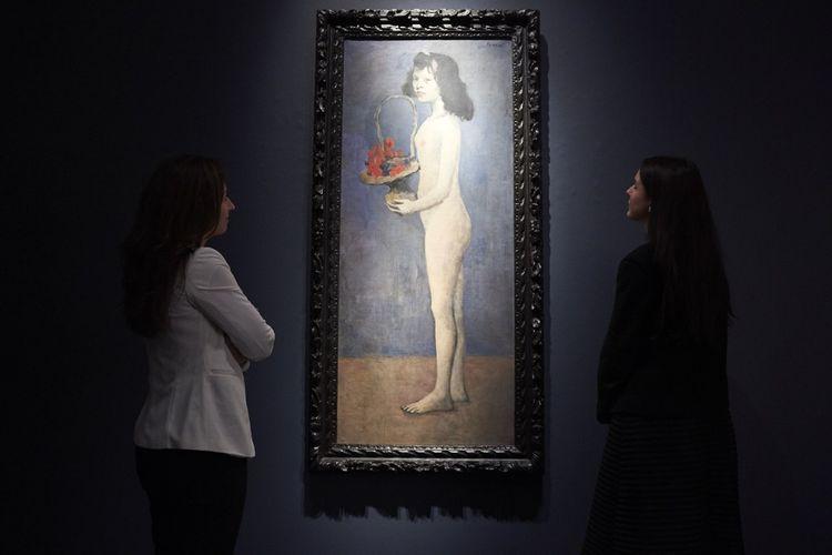 Fillette a la corbeille fleurie, de Pablo Picasso