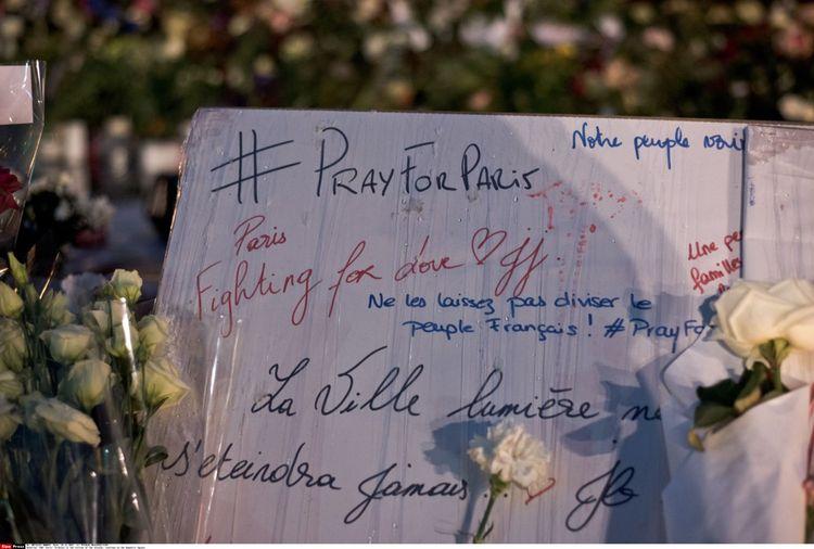 L'hommage #PrayforParis