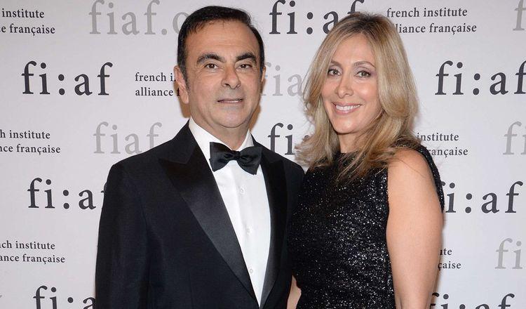 Carlos Ghosn et Carole Nahas