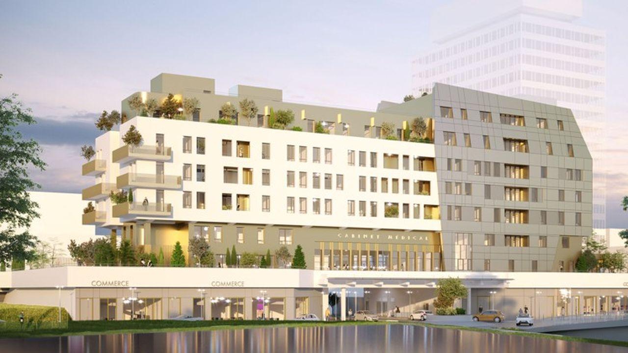 A Cergy, la rénovation de l'ex-immeuble de la Caisse d'allocations familiales a été confiée à Demathieu Bard Immobilier.