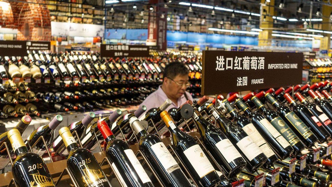 Les exportations de vins en Chine ont reculé de 27% en volume entre janvier et août de cette année