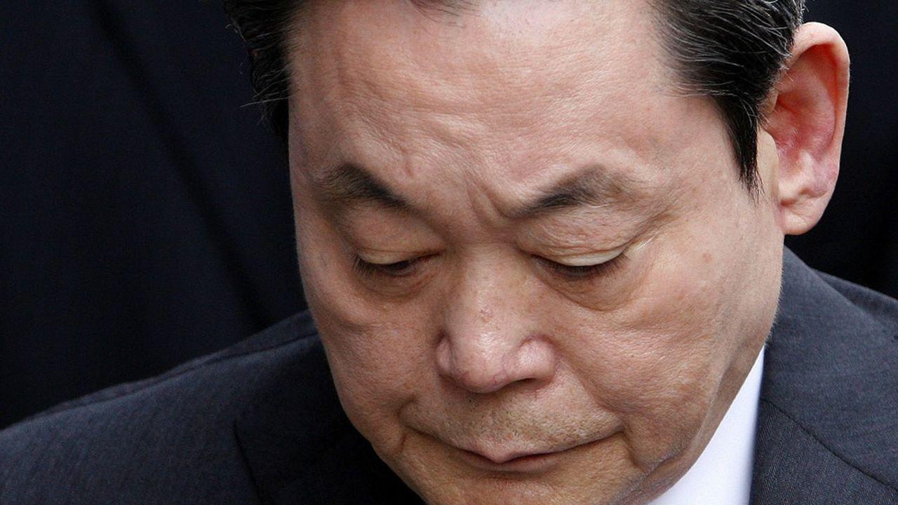 Lee Kun-hee en2008. Il n'était plus aux commandes depuis2014.