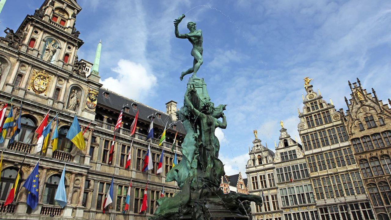 La mairie d'Anvers, en Belgique.