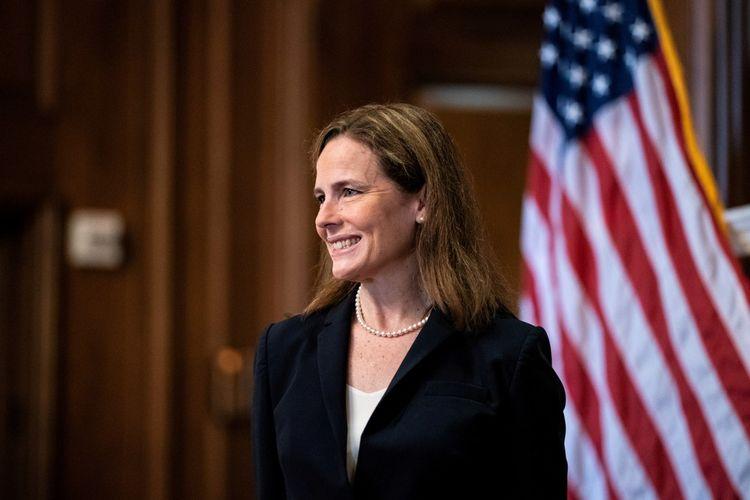 Amy Coney Barrett, la nouvelle juge conservatrice de la Cour Suprême nommé par Donald Trump.