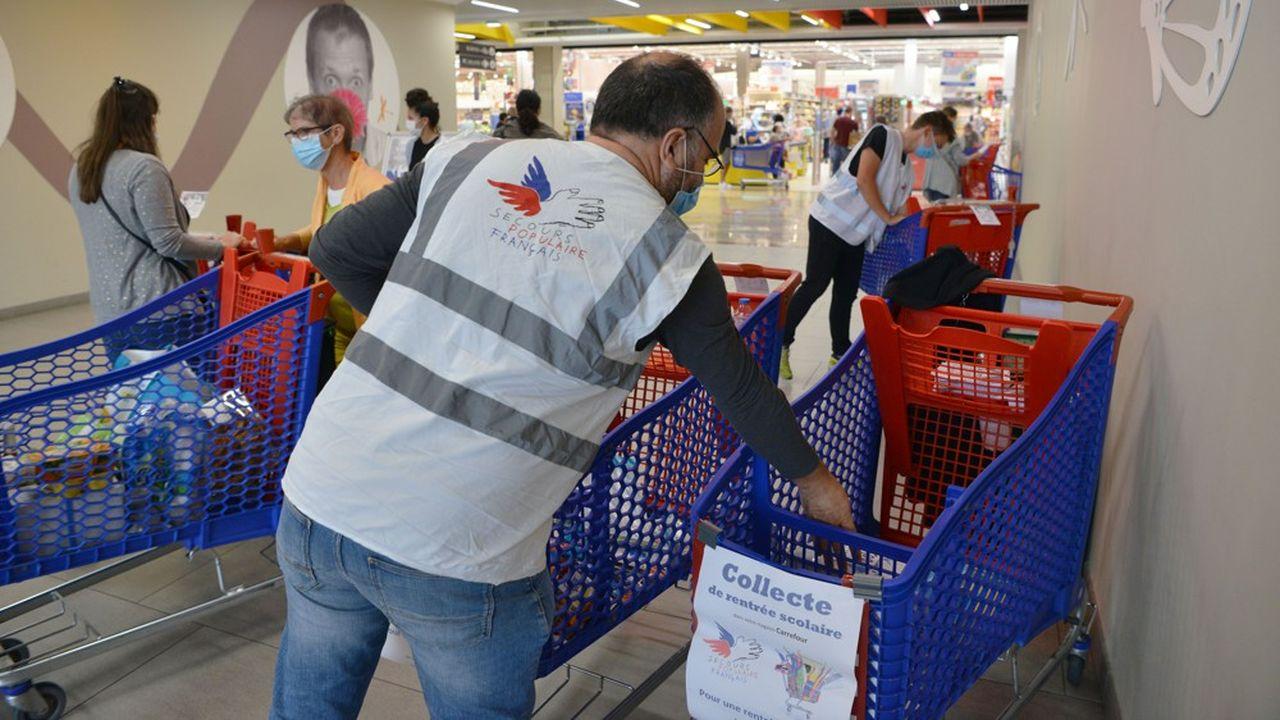 Le Secours populaire fait partie des associations qui ont bénéficié de la hausse des dons ponctuels des Français aux associations.