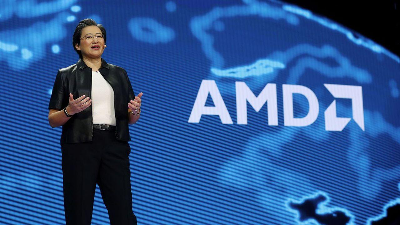 Sous la direction de Lisa Su, l'entreprise née à Santa Clara a regagné des parts de marchés sur ses deux rivaux, Intel dans l'univers des processeurs CPU et Nvidia en matière de cartes graphiques GPU.