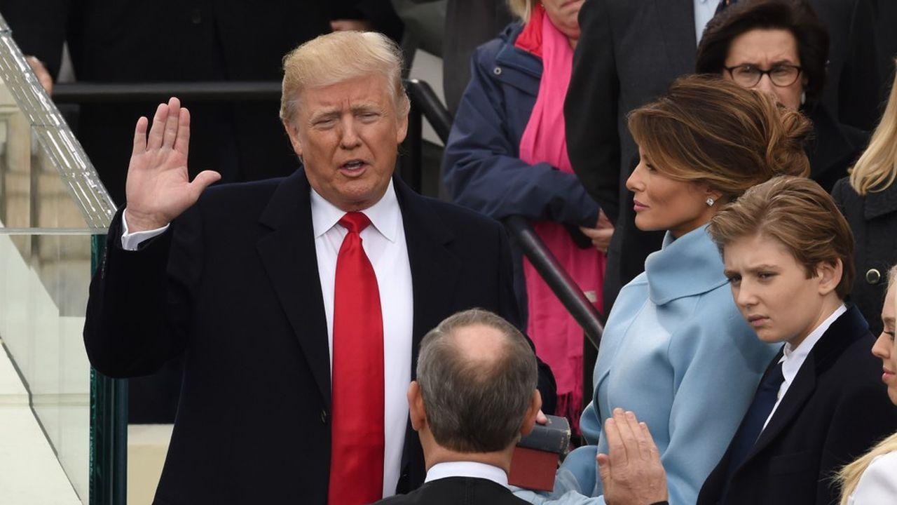 Investiture de Donald Trump, devant le Capitole des Etats-Unis à Washington, le 20 janvier 2017.