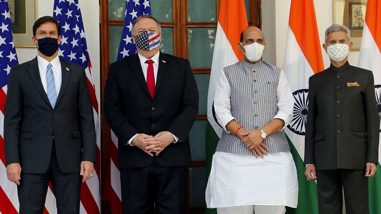 Lors de la rencontre entre les ministres américains et indiens de la Défense et des Affaires étrangères, la Chine a été au centre des échanges.