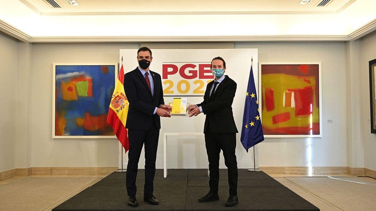 Pedro Sánchez et Pablo Iglesias ont annoncé leur accord sur un projet de budget qui devra être soumis au Parlement.