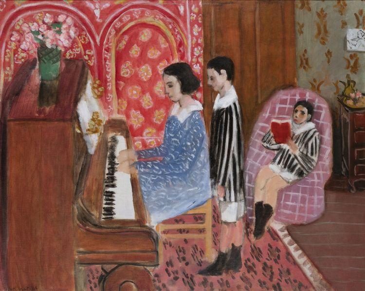 Henri Matisse « La Leçon de piano», 1923, huile sur toile.