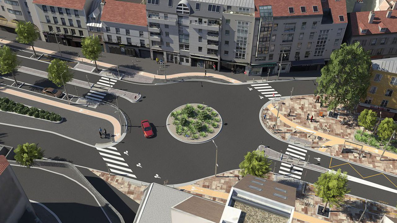 La transformation en boulevard urbain de la RD 910 devrait être achevée en 2025.