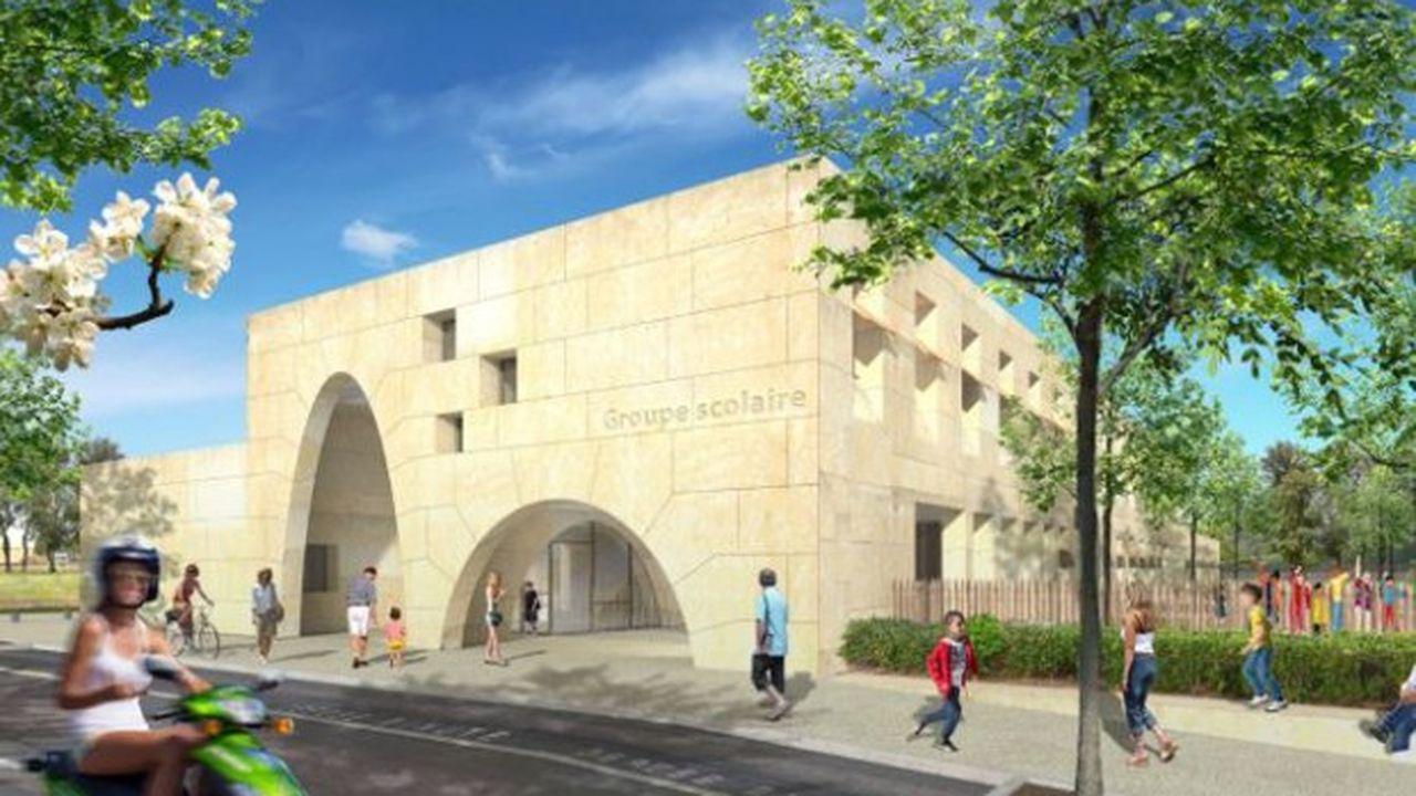 Le bâtiment sera construit avec des pierres massives de Vers-Pont-du-Gard.