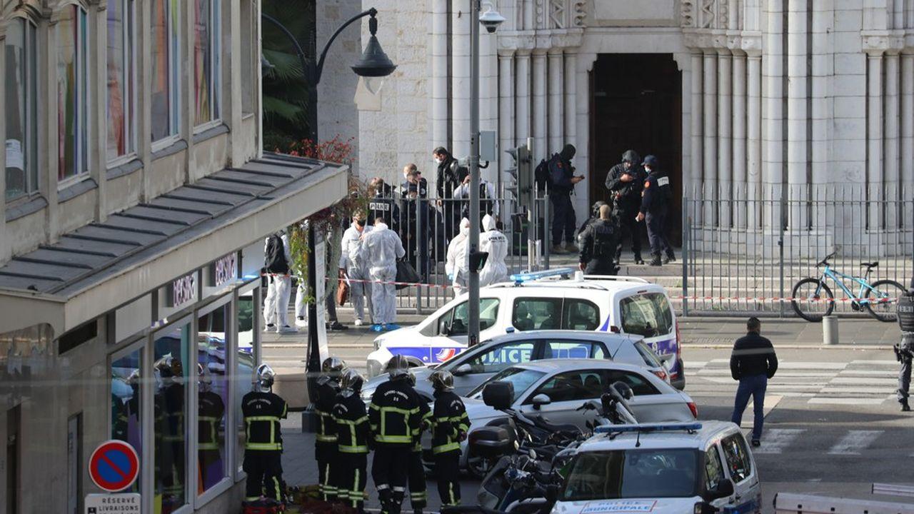 Les faits se sont déroulés vers 9heures près de l'église Notre-Dame, en plein coeur de Nice.