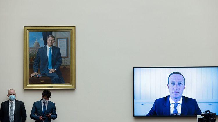 29 juillet 2020 : Mark Zuckerberg en vidéoconférence face à une commission qui se penche sur les possibles abus de position dominante des Gafa.