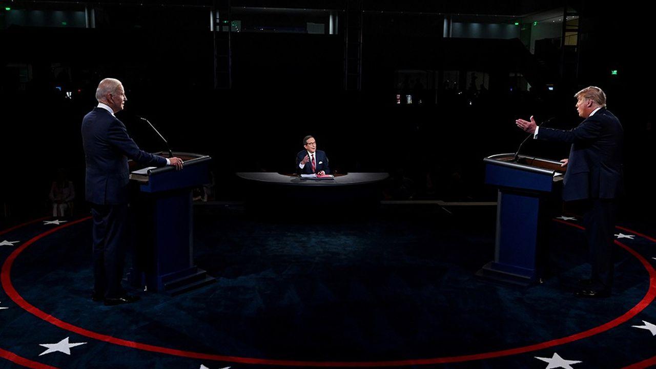 Premier débat entre les candidats à la présidentielle américaine, Joe Biden (à gauche) et Donald Trump, le 29 septembre dernier.