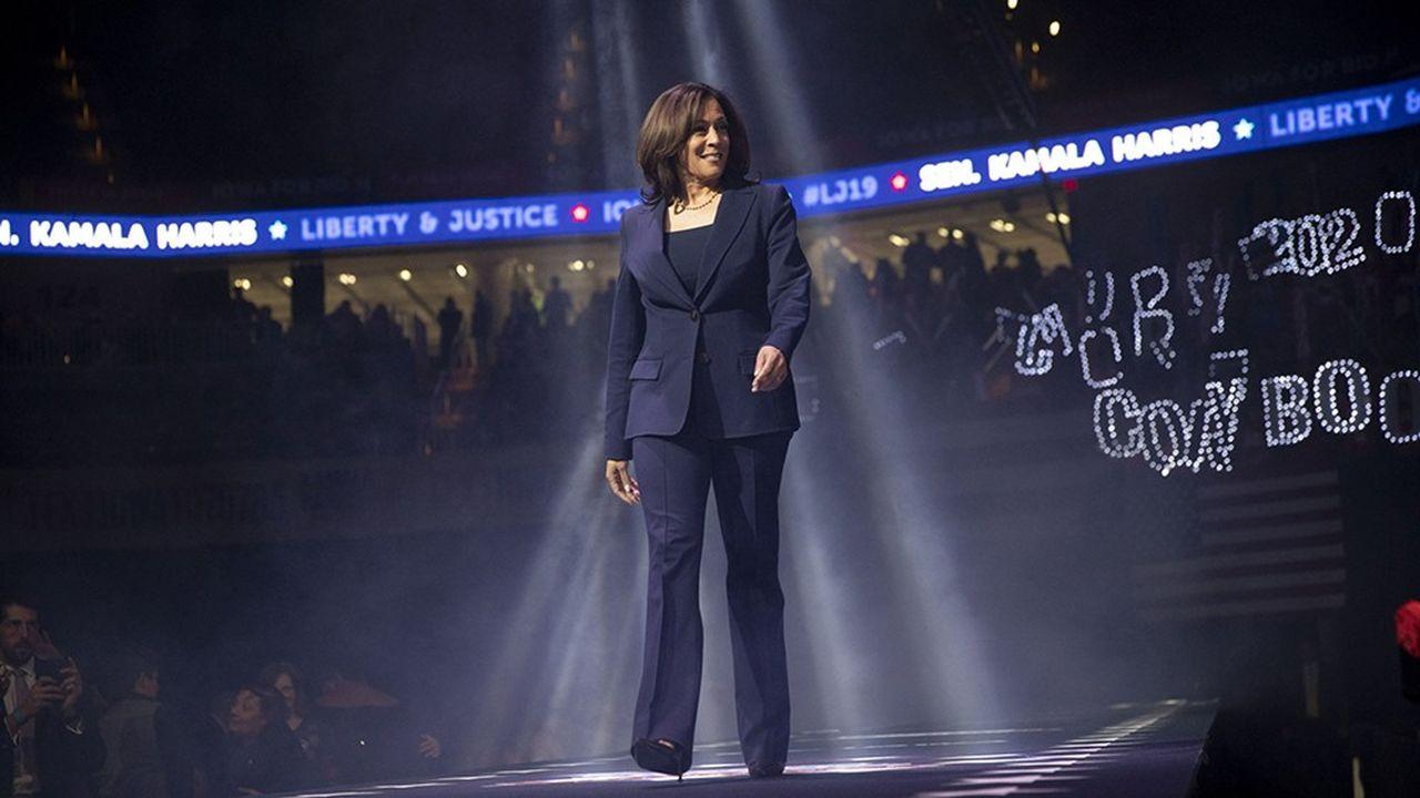 Kamala Harris (ici en meeting dans l'Iowa en 2019), colistière de Joe Biden dans la course à la Maison-Blanche, a été diplômée de Howard en 1986.