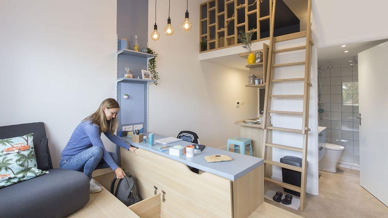 Kley s'est associé aux élèves designers de l'école Boulle pour revoir l'aménagement des chambres de ses résidences étudiantes.
