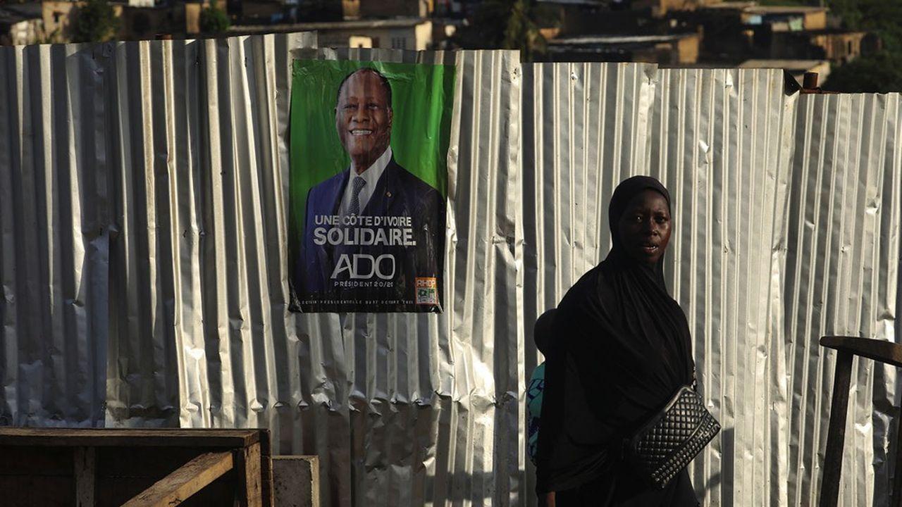 Alassane Ouattara est assuré de remporter l'élection présidentielle de samedi où il se présente pour un troisième mandat.