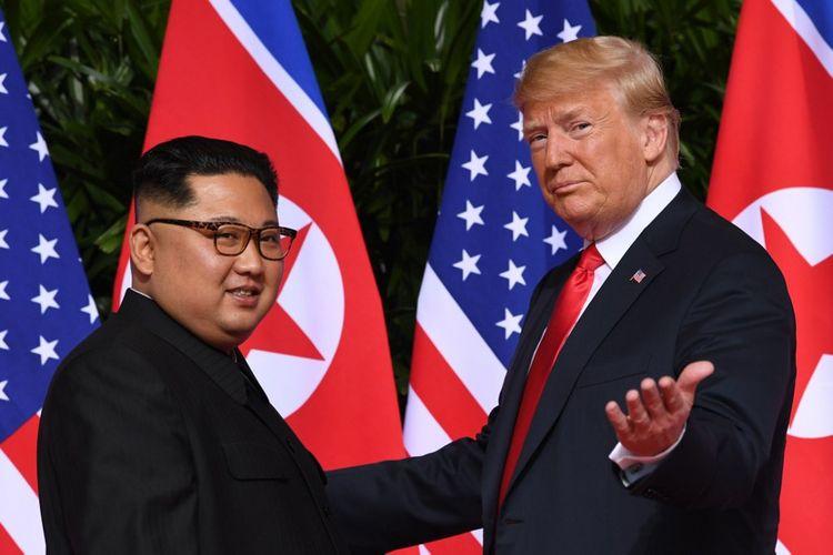 Kim Jong-un et Donald Trump à Singapour, le 12juin 2018.