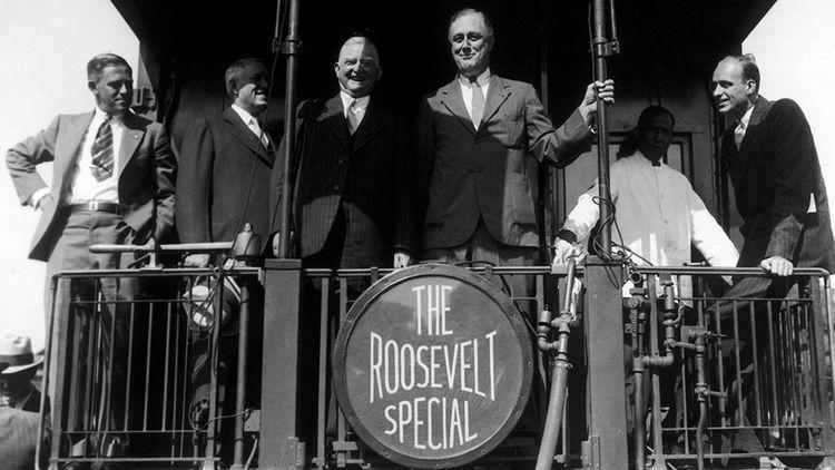 Franklin Delano Roosevelt, élu le 8 novembre 1932