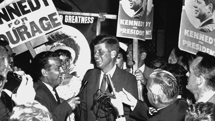 John Fitzgerald Kennedy, élu le 8 novembre 1960