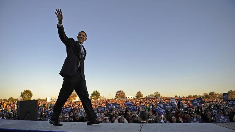 Barack Obama, élu le 4 novembre 2008, réélu le 6 novembre 2012