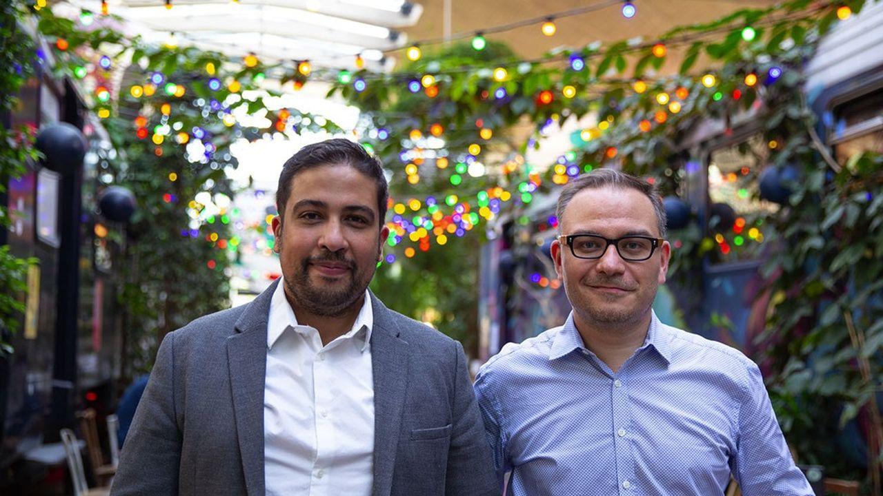 Les fondateurs de BulldozAIR, Ali El Hariri et Maxence Lérigner.