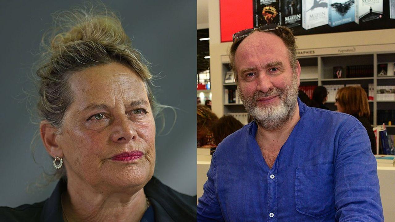 Deborah Levyet Serge Joncour, tous deux gagnants du prix Femina2020.