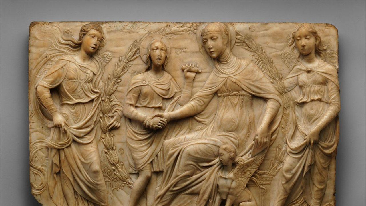 Agostino di Duccio «Sainte Brigitte reçoit la règle de son ordre»